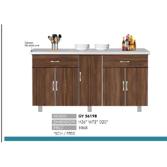 LHT Kitchen Cabinet Bottom 6ft Width x 3ft Height x 1.8ft ...