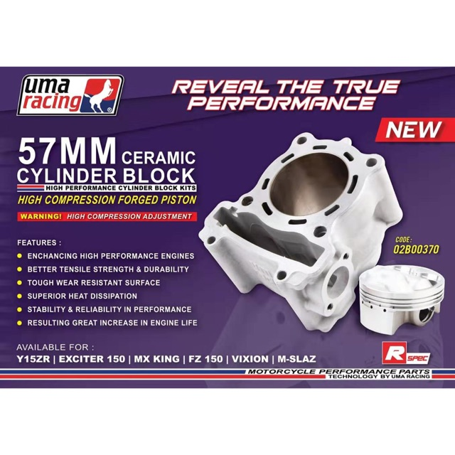 Uma Racing Block Set 57mm Lc135 Y15ZR Fz150