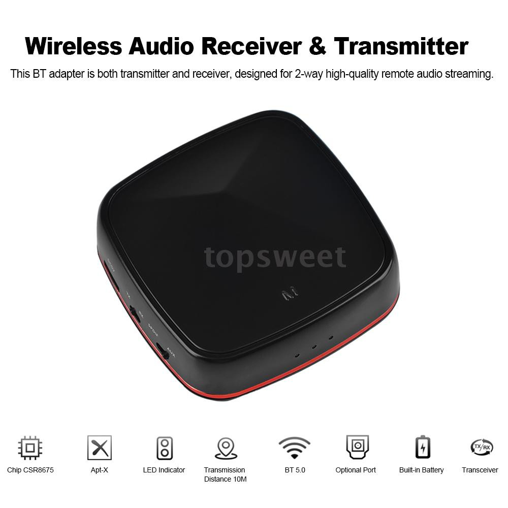 Wireless Audio Receiver Transmitter Bluetooth 5 0 Optical Adapter  Supporting AptX Low Latency CSR8675 with Digital Optic