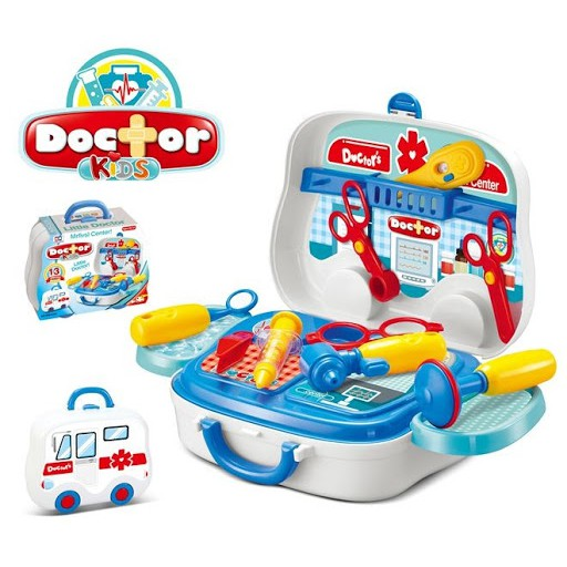 Doctor play set Pretend Play Doctor Nurse Medical Tools Box case Bag Playset Educational Toys for Boys Girls Kids