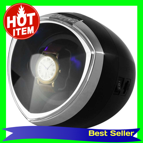 HC0110 Single Watch Winder Box for Automatic Watch 4 Modes Automatic Rotating Winder LED Lighting Mechanical Watch Wind