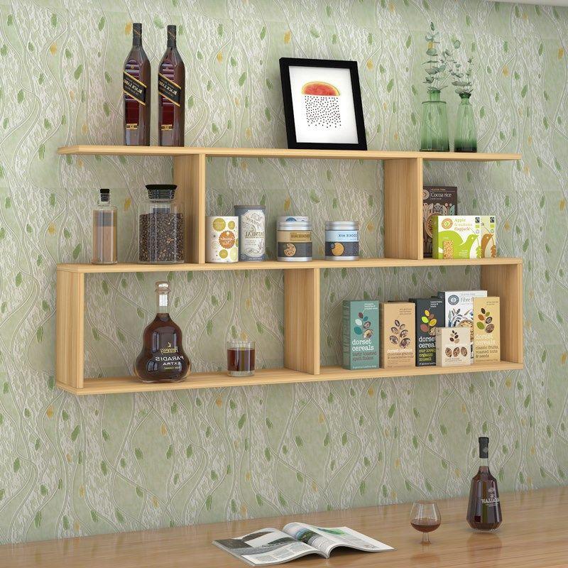 Bookshelf Wall Mounting Rack Wall Hanger Bedroom Wall Creative Lattice Living Room Wine Rack Hanging Cabinet Wall Cabinets 2020 Shopee Malaysia