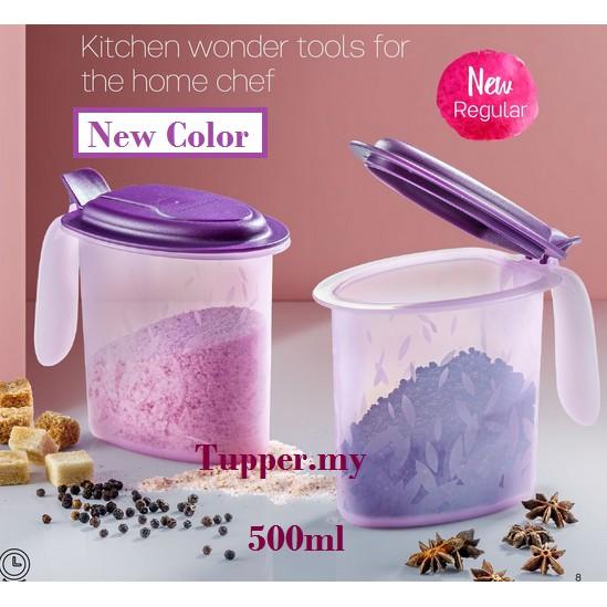 *1pc/2pcs*Tupperware Salt N Spice keeper storage Set 500ml Purple