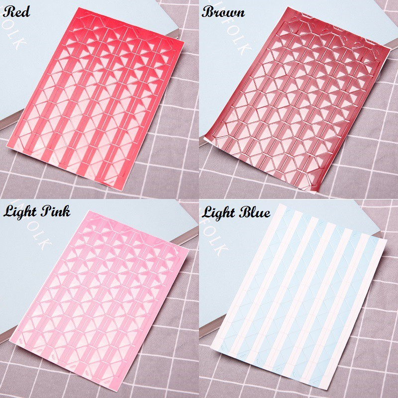 8 Sheets Mixed Colors Photo Album Sticker Self Adhesive Corners Stickers