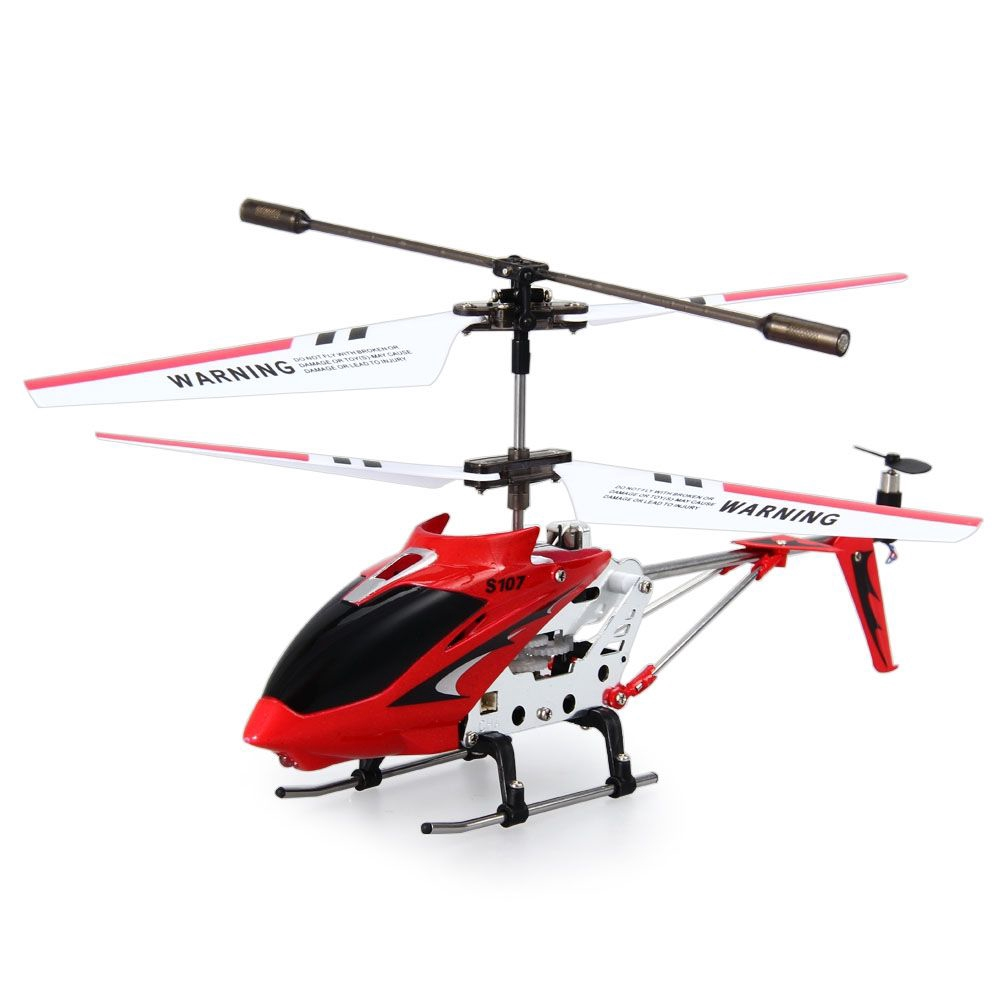 S107G 3CH REMOTE CONTROL HELICOPTER ALLOY COPTER WITH GYROSCOPE (RED)