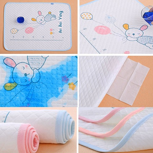 Newborn Baby Cotton Diaper Travel Nappy Waterproof Mat Urine Pads Cartoon