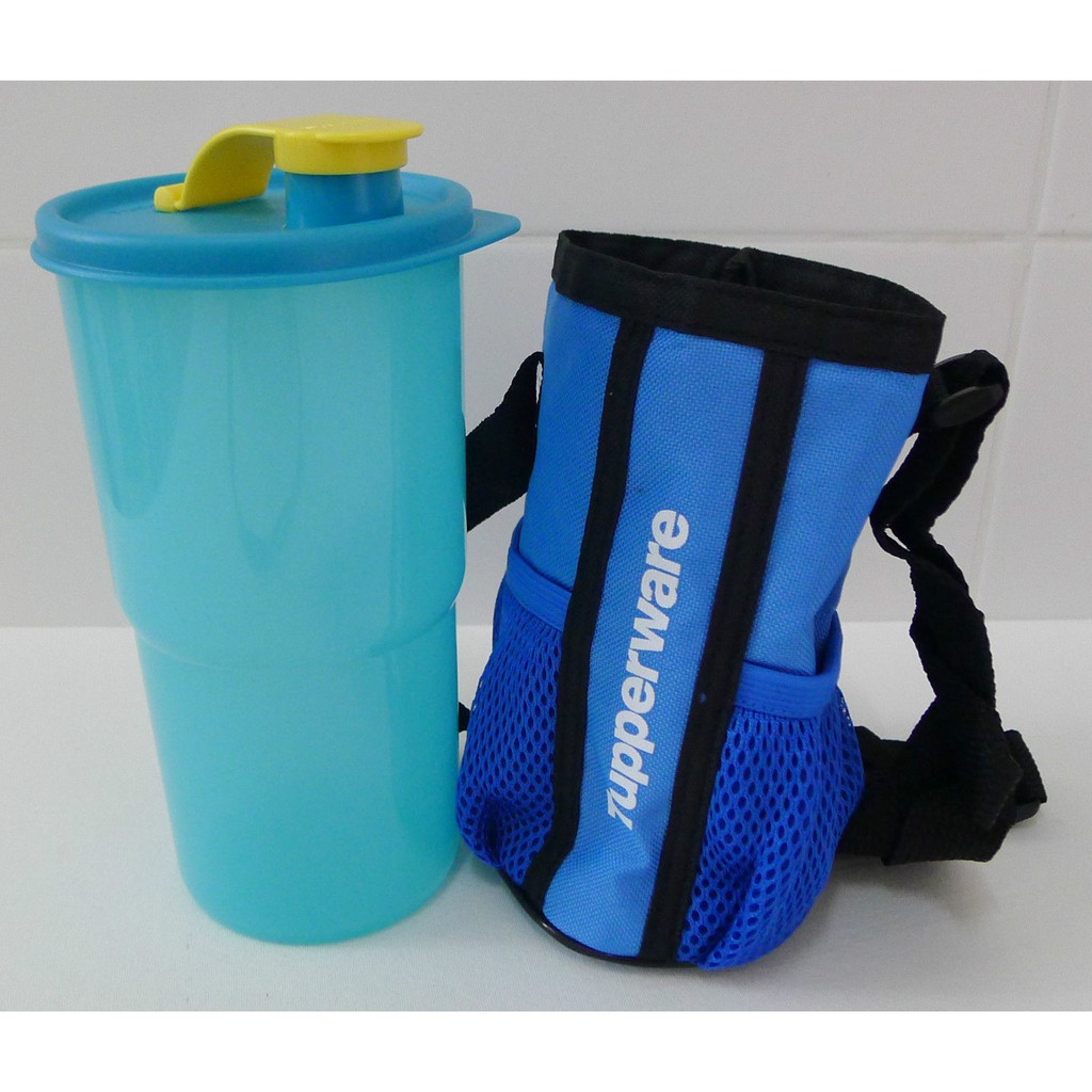 Tupperware New Thirstquake Tumbler Blue with Pouch 900ml