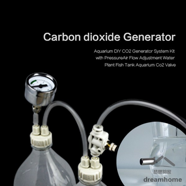 Aquarium DIY CO2 Generator System Kit with Pressure Air Flow