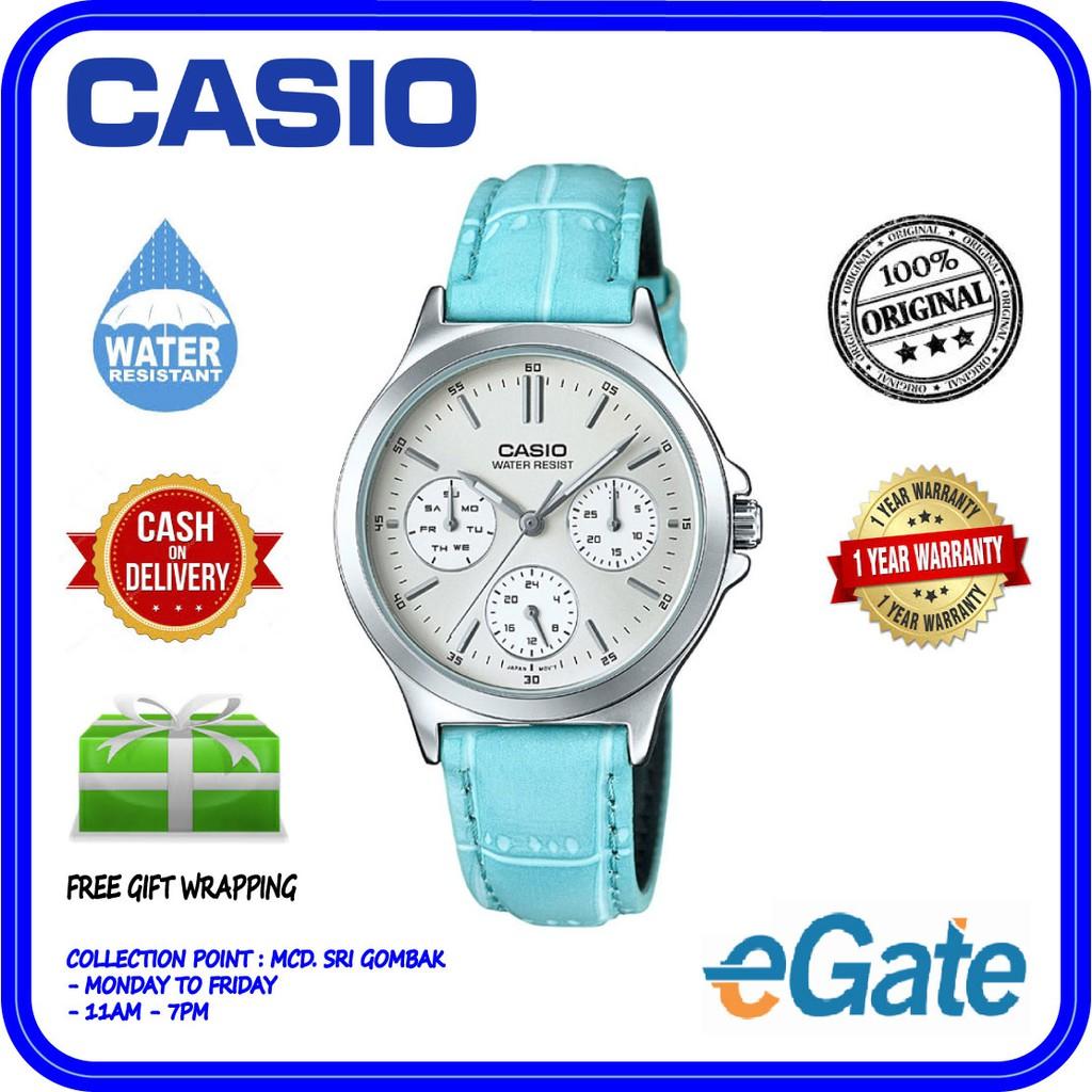 Casio Viral Blue Shopee Malaysia Jam Tangan Wanita Original Fossil Es3734