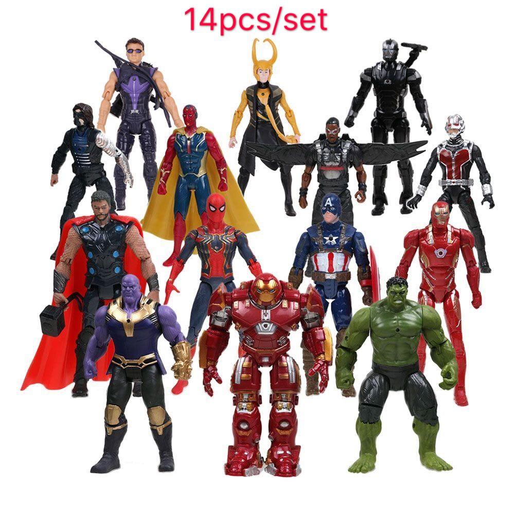 Avengers Marvel Infinity War Transformation Spiderman Thanos Hulk Captain Figure