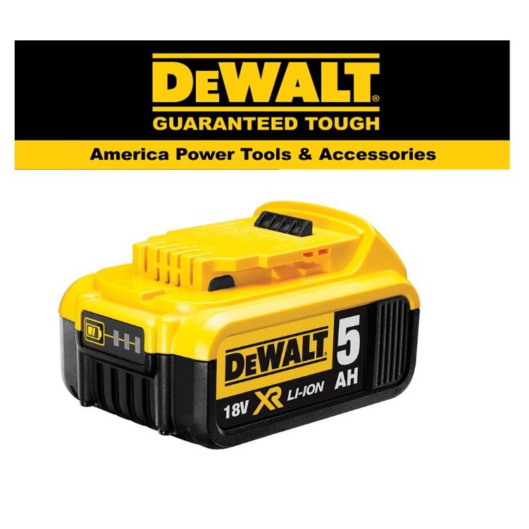 READY STOCK!!DEWALT DCB184-B1 18V XR Li-ion BATTERY (5.0Ah)EASY USE SAFETY GOOD  QUALITY