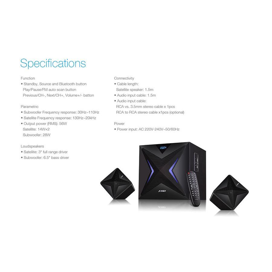F&D F550X 2.1 Channel Multimedia Bluetooth Speakers