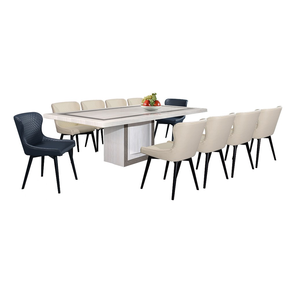Picture of: Nl Mtx65e7 Luxury Design Marble Dining Table 1 10 Shopee Malaysia