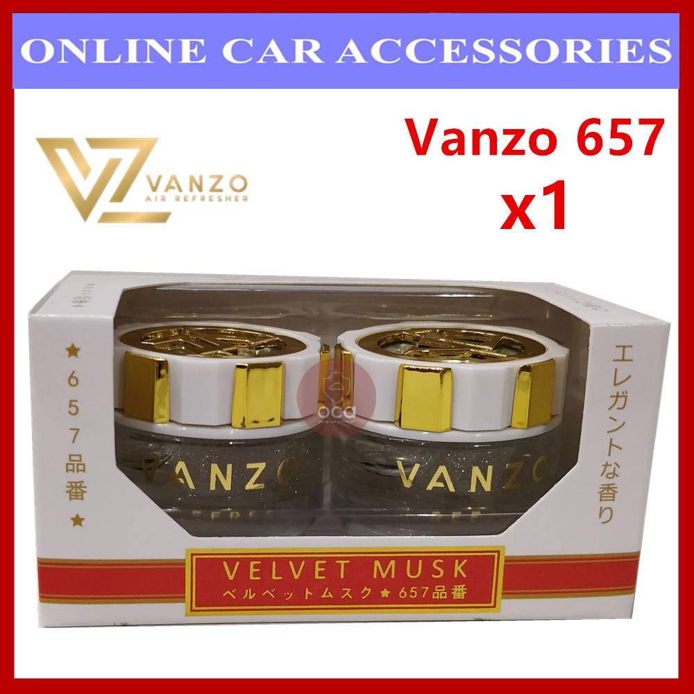 Vanzo 657 (16ml x 2) Velvet Musk Black Gold Car Perfume Air Freshener
