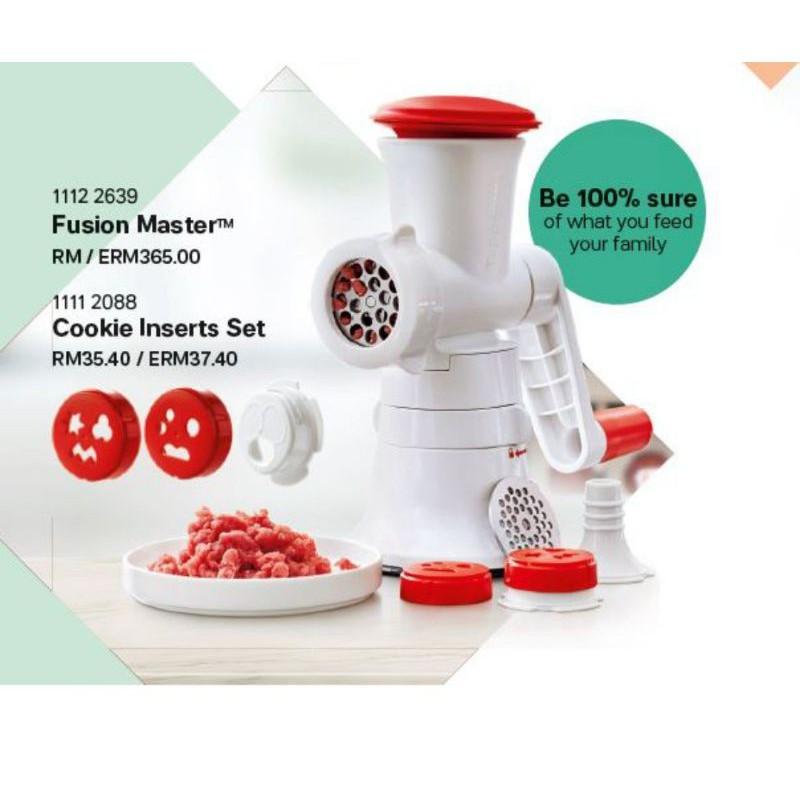 fusion master tupperware free recipe book n seal brush n cookies inserts sets