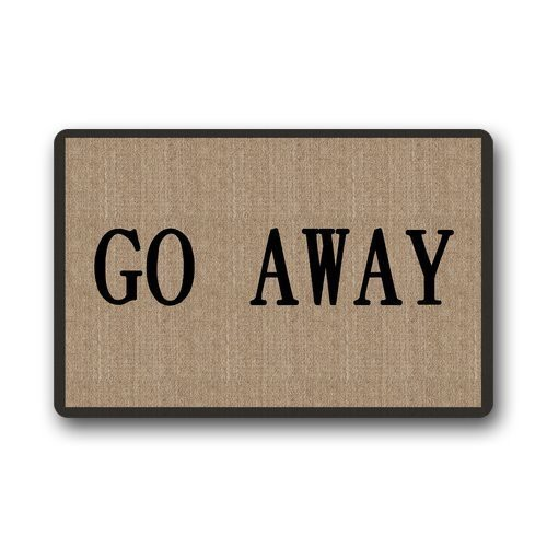 Decorative Funny Retro Vintage Welcome Go Away Doormat