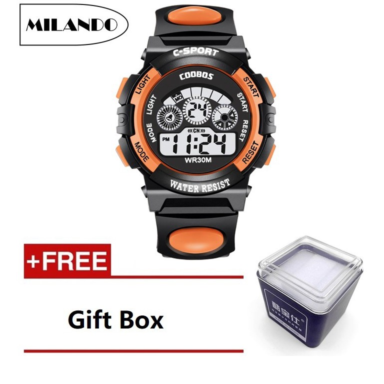 Children Watches Kid LED Digital Multifunctional Watch FREE Gift Box (Type  2)