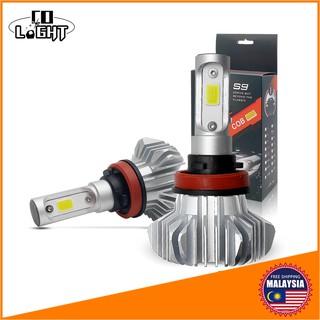 ♛COLIGHTCob Led Auto Bulbs H4 H11 H7 9005 9006 Driving Headlight Conversion  Kit