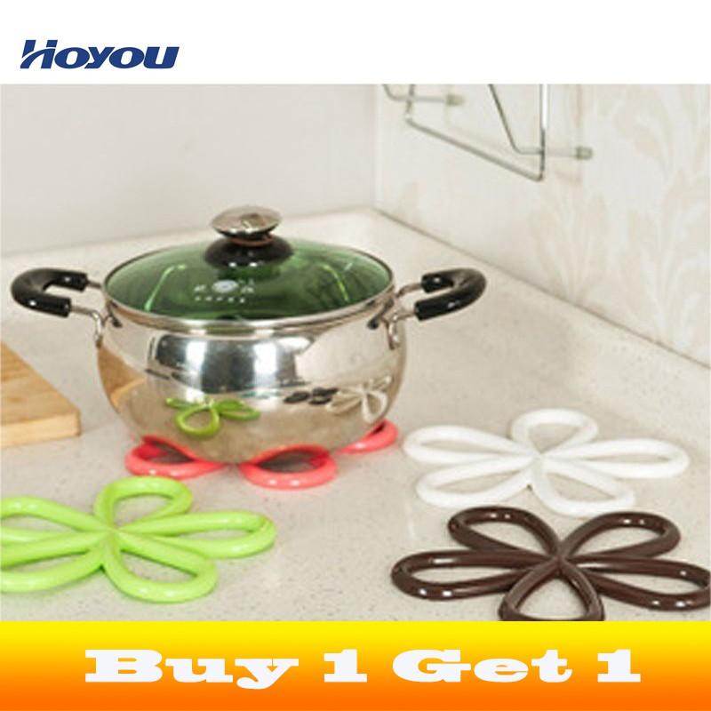 Kitchen Silicone Heat Insulation Mat Coaster Placemat Pot Pan Pad Insulat