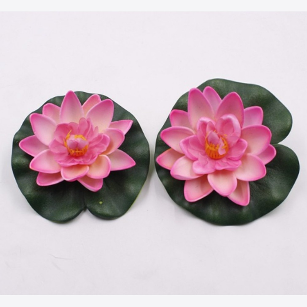 Fashion Plant Artificial Ornament Tank Water Lily Floating Flower