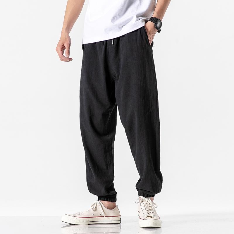 Store Men Harem Pants Japanese Casual Cotton Linen Trouser Man Pants Jogger NEW
