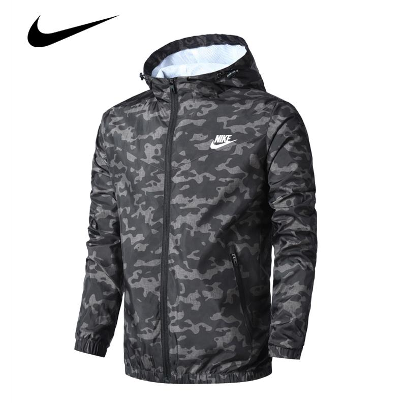 discount factory price well known 🔥READY STOCK🔥NIKE Original Casual Camouflage coat jacket Elastic cuffs  Fashion trench coat