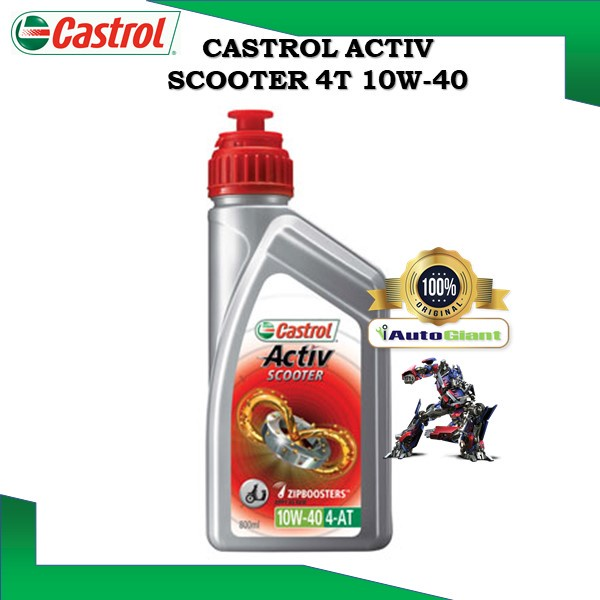 Castrol ACTIV SCOOTER 10W40 Part Synthetic Technology For SCOOTER (0.8L) (100% ORIGINAL)