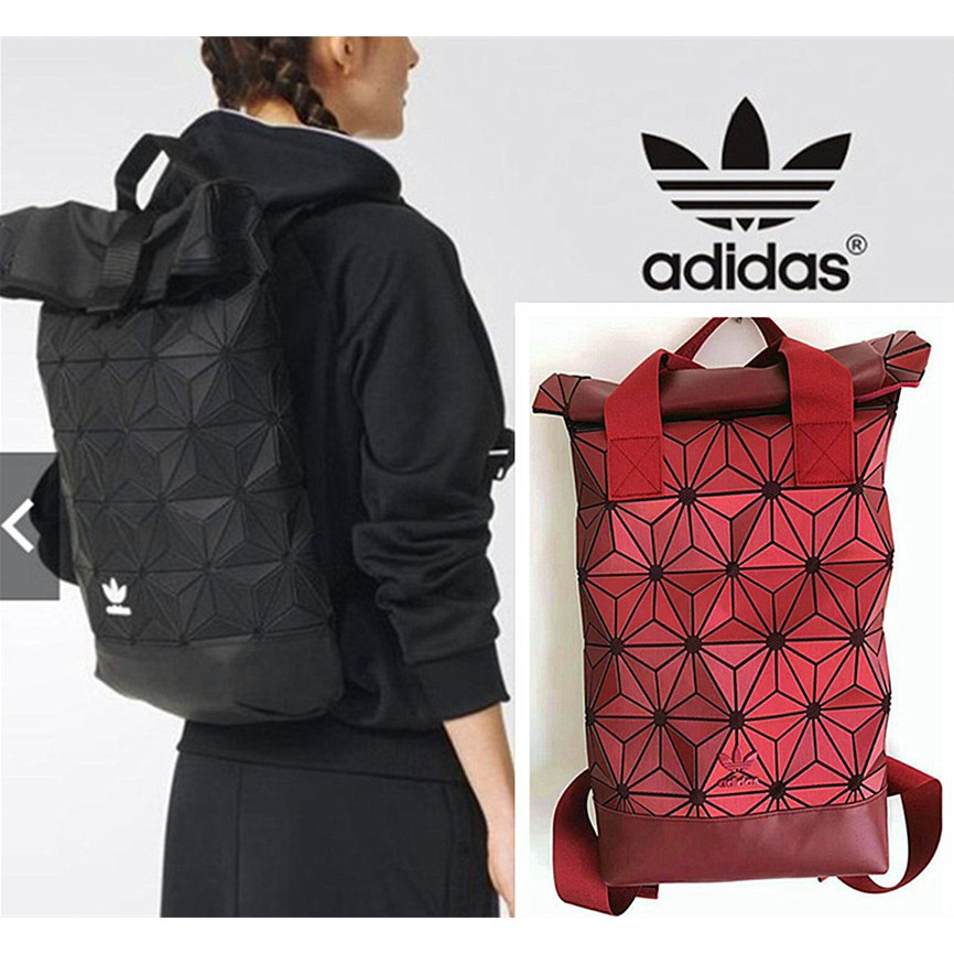 4fcdd66626c8 Ready Stock Adidas Backpack 3D Urban Laptop bag x Issey Miyake Mesh Roll Up