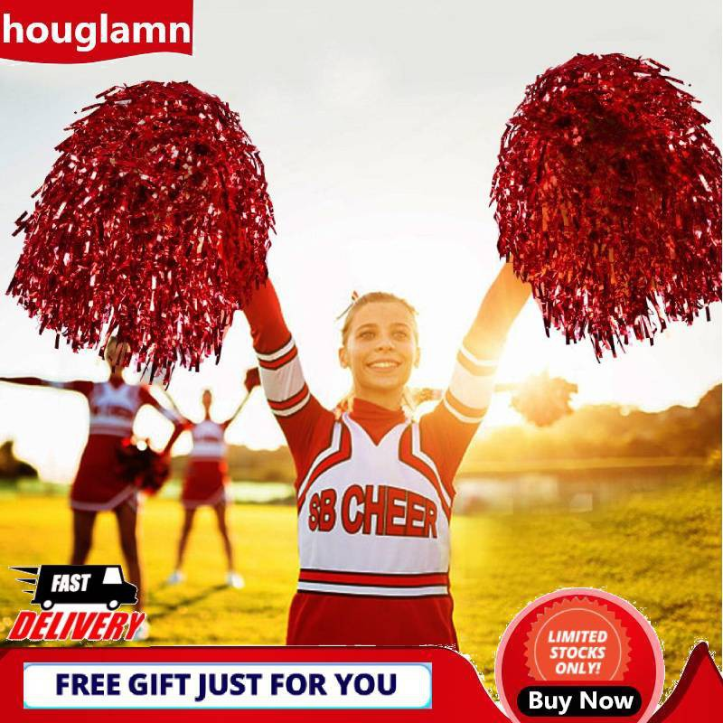UK/_ HAND FLOWER POM POMS CHEERLEADER CHEERLEADING CHEER DANCE FOOTBALL CLUB DECO