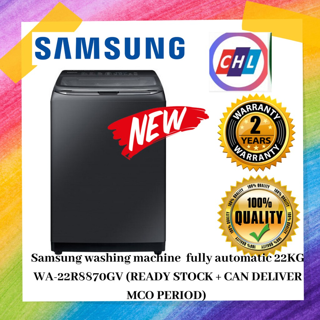 Samsung washing machine 22KG top load washer with active dual wash WA-22R8870GV (READY STOCK + CAN DELIVER MCO PERIOD)