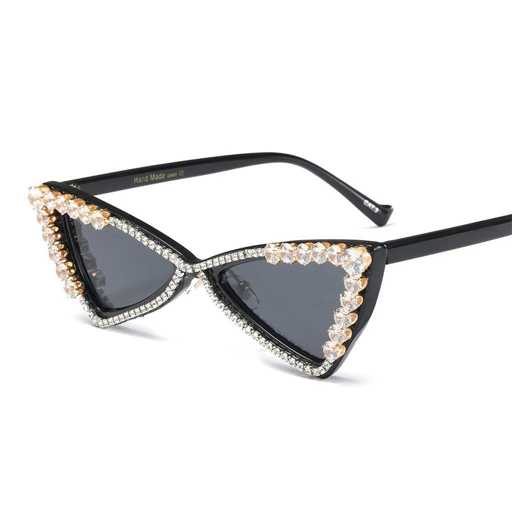 0ae4dc2e38d2 rhinestone cat eye glasses frames for women brand luxury sexy eyeglasses