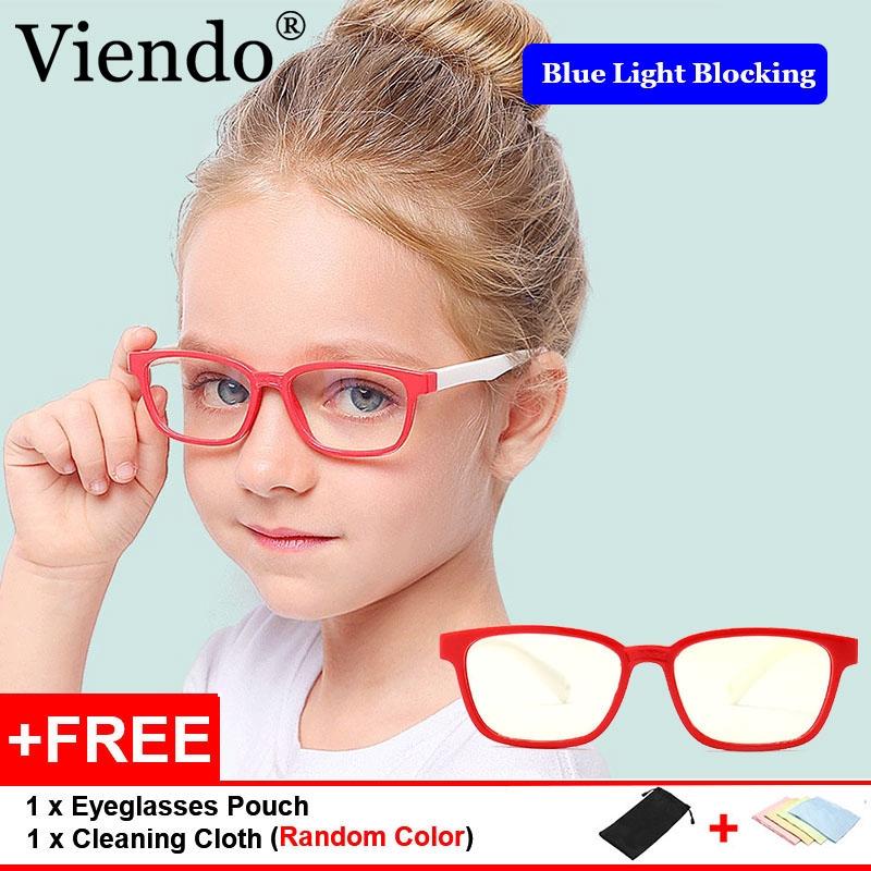 7b769afb247b Boys Girls Eyes Protection Flat Mirror Soft Silicone Frame Children  Eyeglasses | Shopee Malaysia