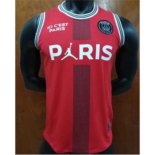uk availability d4b3f 50207 PSG Jordan vest jersey