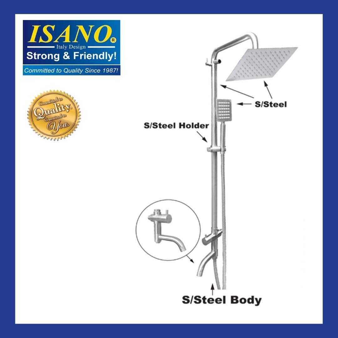 ISANO STAINLESS STEEL  SHOWER SET 1905ES / 1905ES