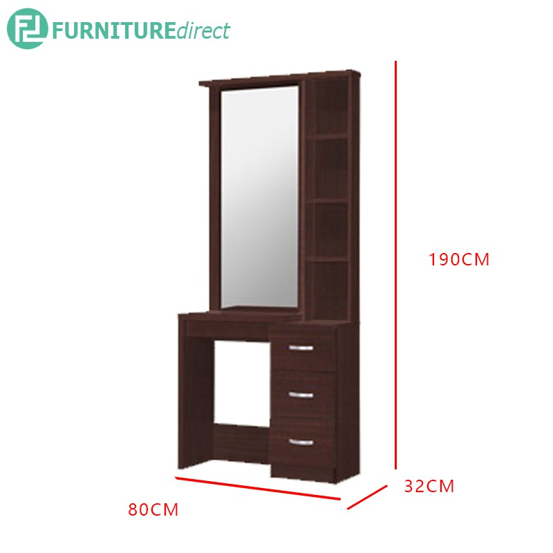 MODERN DRESSING TABLE with Mirror + 3 drawers / makeup table / mirror / bedroom