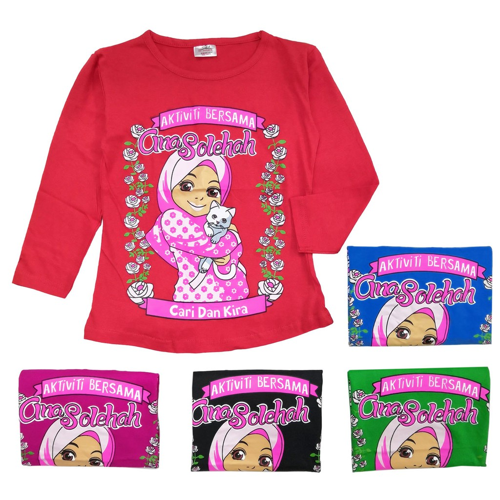 Cheapest in Town Kids Muslimah LongSleeve Shirt 100%Cotton 6-9y