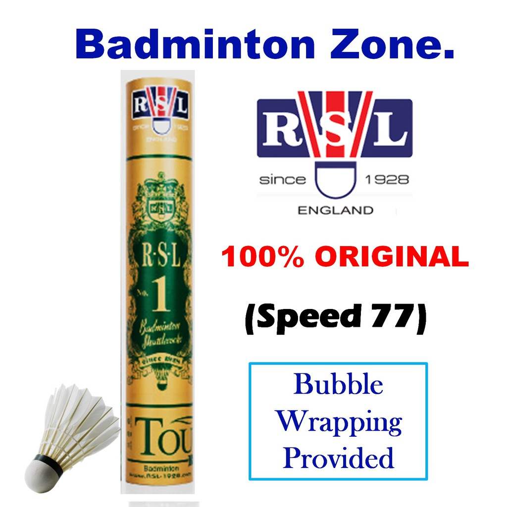 RSL Gold No1 Original (Bubble Wrapping) (Speed 77) Badminton Shuttlecock