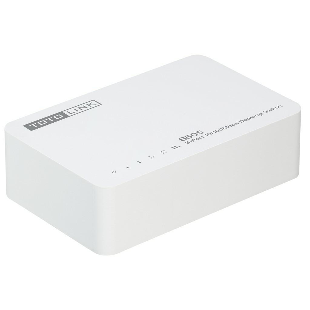 TOTOLINK S505 5-PORT LAN 10/100MBPS NETWORK DESKTOP SWITCH Fast Ethernet Speed