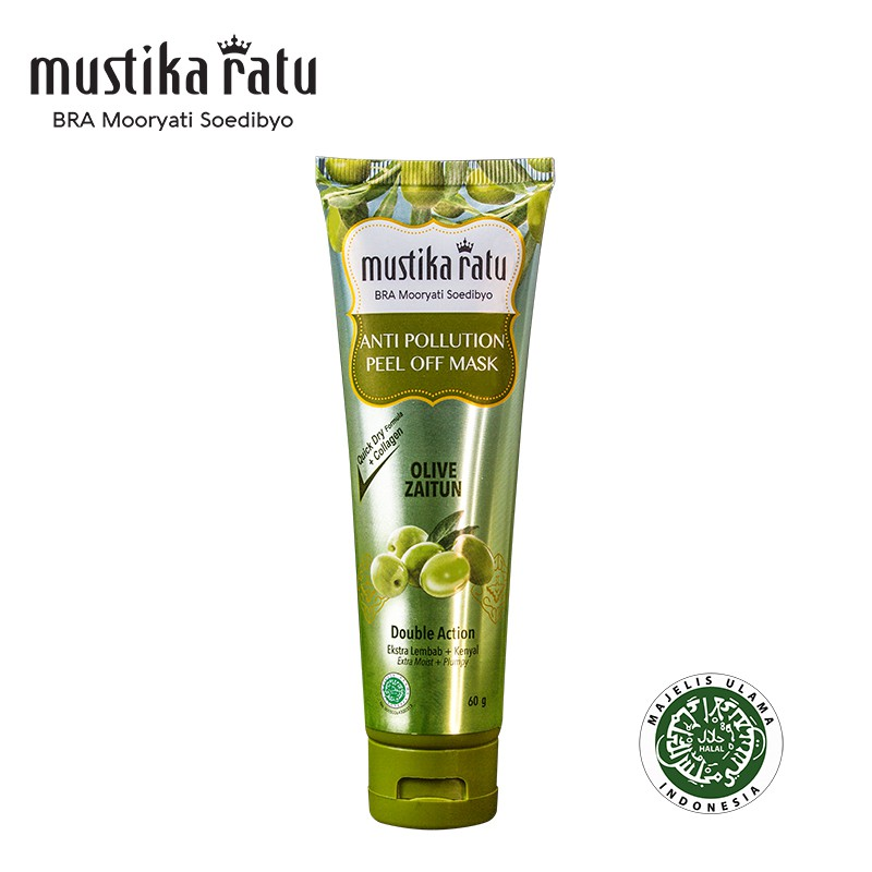 Mustika Ratu Anti Pollution Peel of Mask Zaitun (moisturize & remove dead skin) 60ml