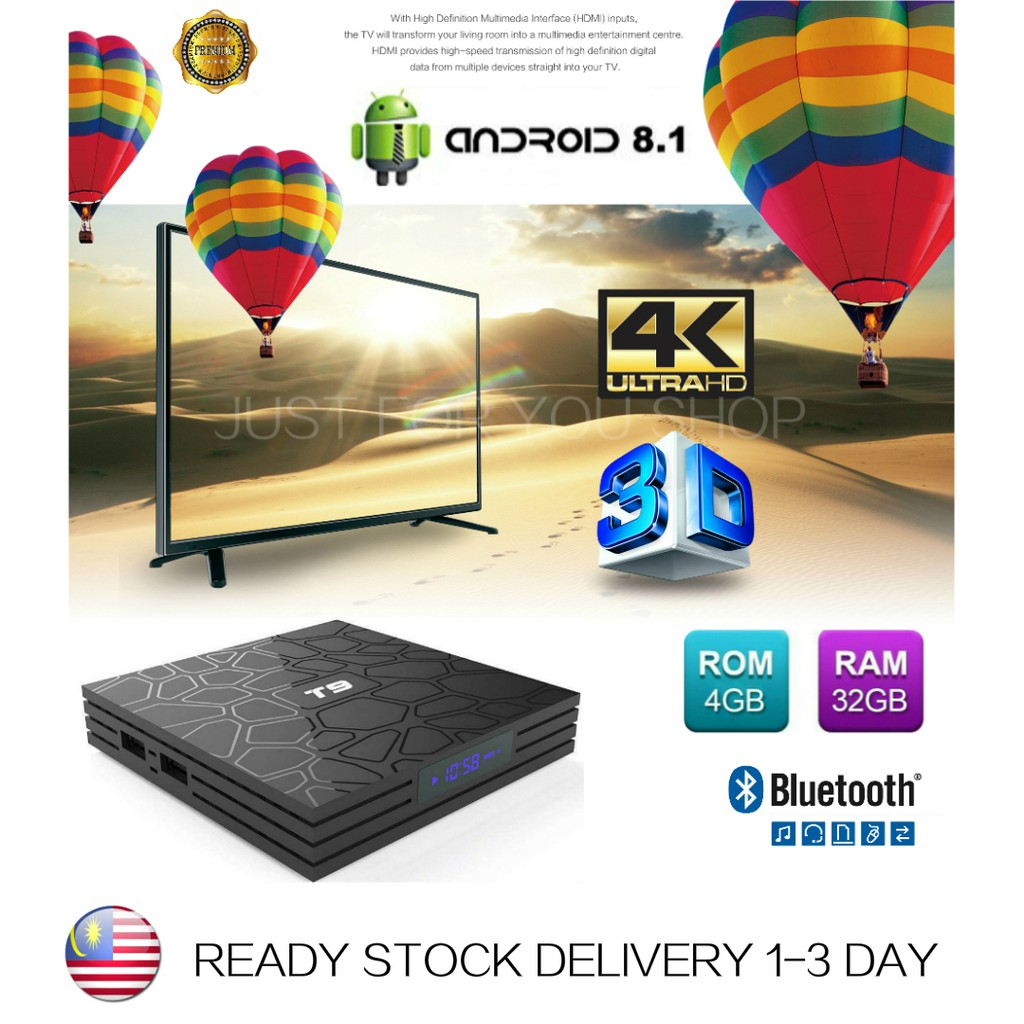 (Preinstall10000 Channel+LatestApp) 4GB+32GB NEWT9 Smart Tv Box AndroidBox  TvBox