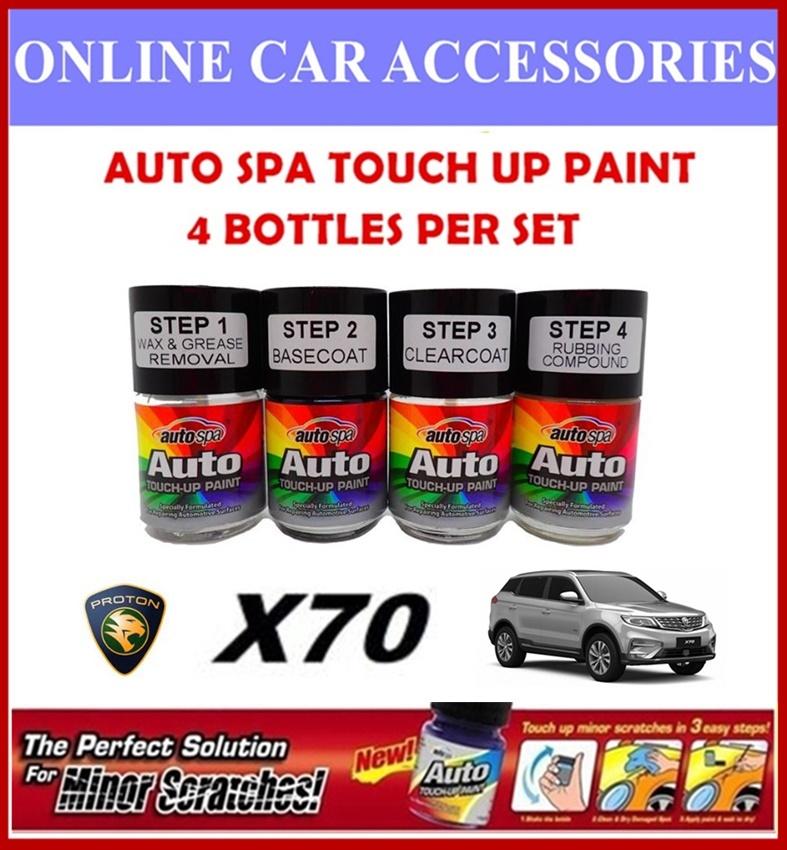 PROTON X70 Original Touch Up Paint - AUTOSPA Touch Up Combo Set (4 Bottles Per Set)