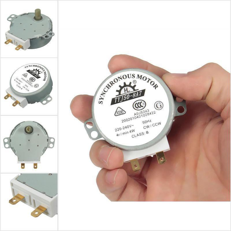 CW//CCW Microwave Turntable Turn Table Synchronous Motor TYJ50-8A7D Shaft 4RPM ..