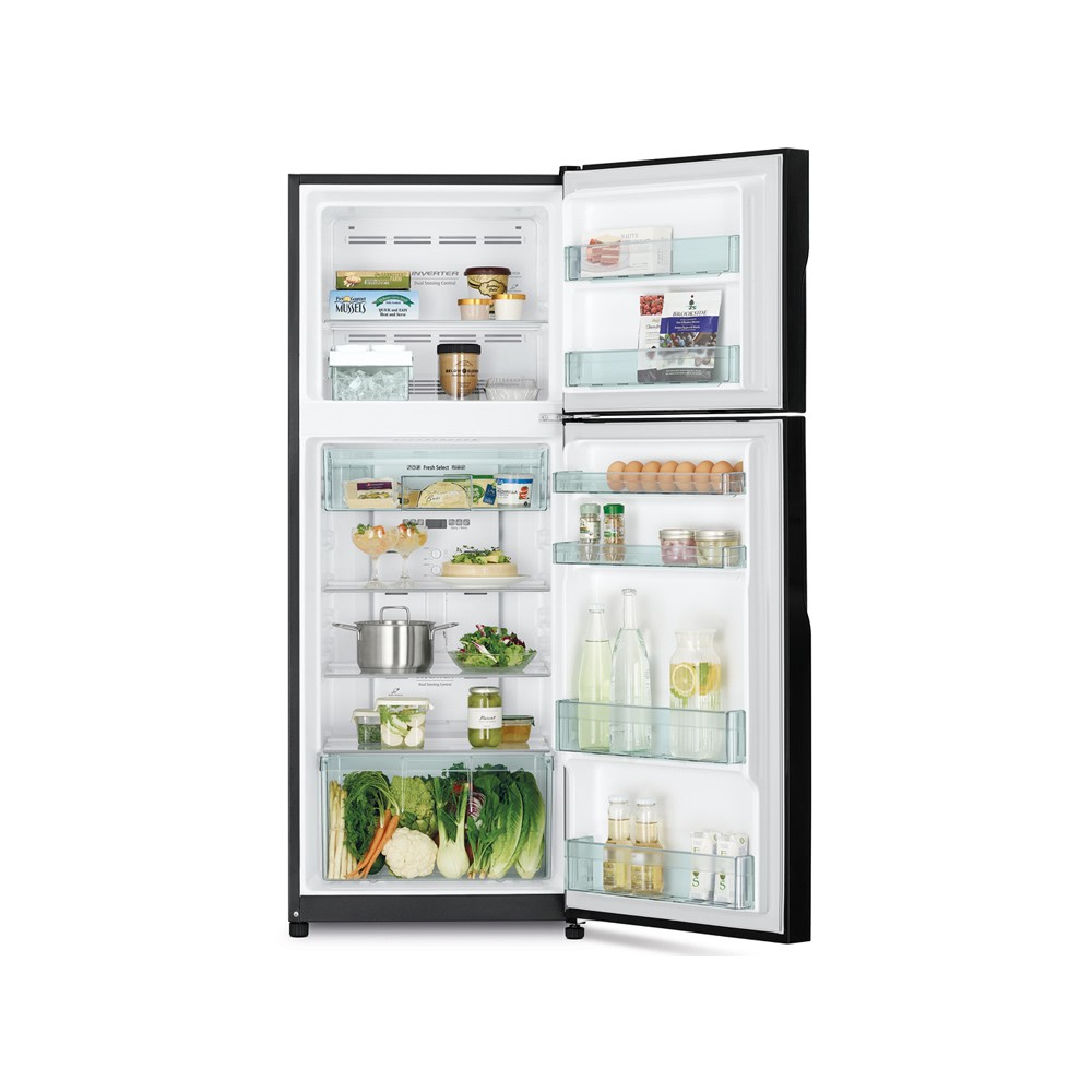 HITACHI NEW INVERTER FRIDGE R-H315P7M BBK 289L 2 DOORS