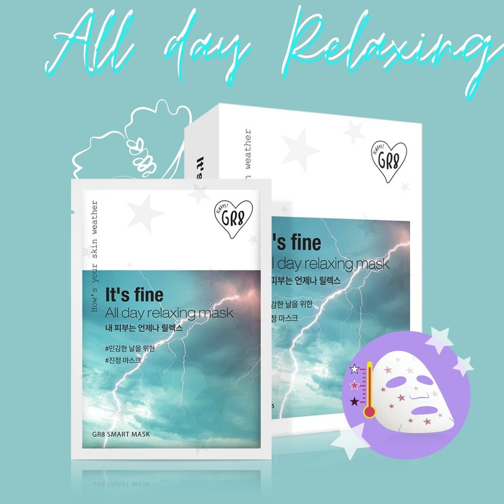 ALL DAY RELAXING MASK 10 PCS