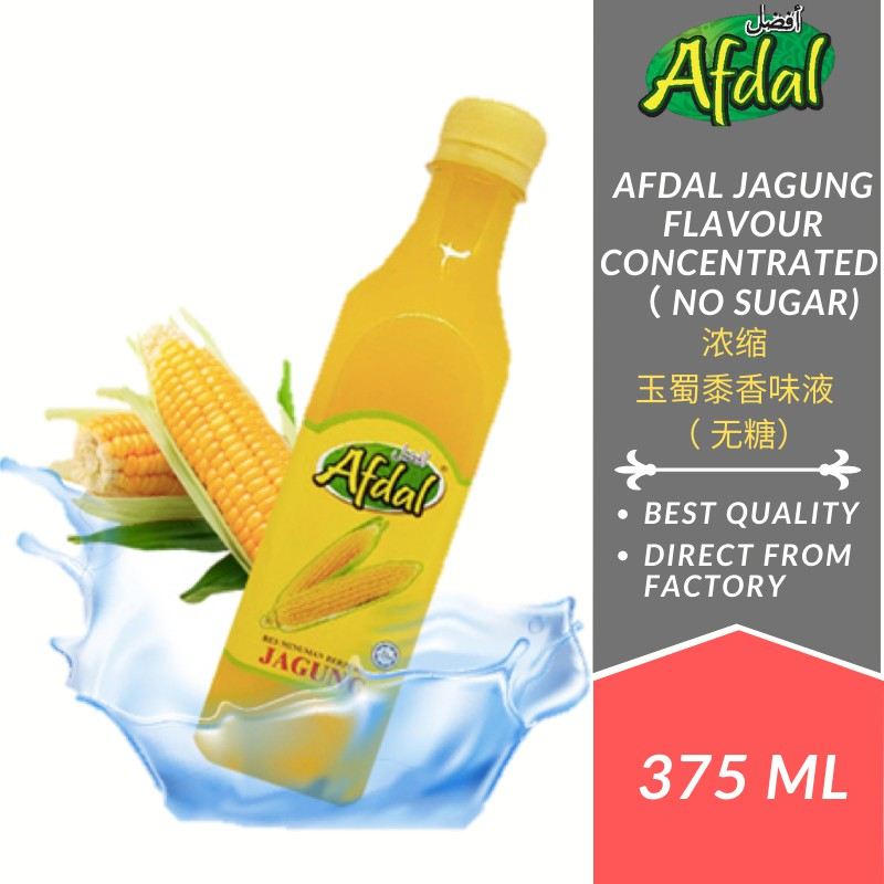 Afdal Jagung Flavoured Concentrate 375ML