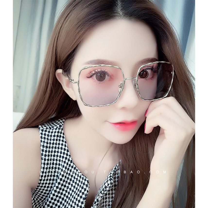 4d15a9941b8 Net red left bank Xiao with the metal butterfly female sunglasses reflectiv  3533