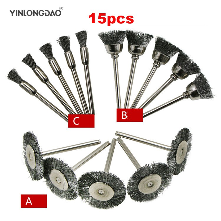 5Pcs Stainless Steel Polishing Brush Wire Wheel Brushes for Drill Rotary Too ZY
