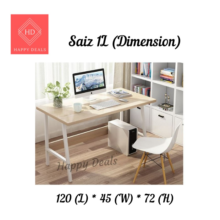 Happy Deals Modern Home Office Table Workstation Office Desk Writing Table Living Room Wood Computer Desks Study Chair