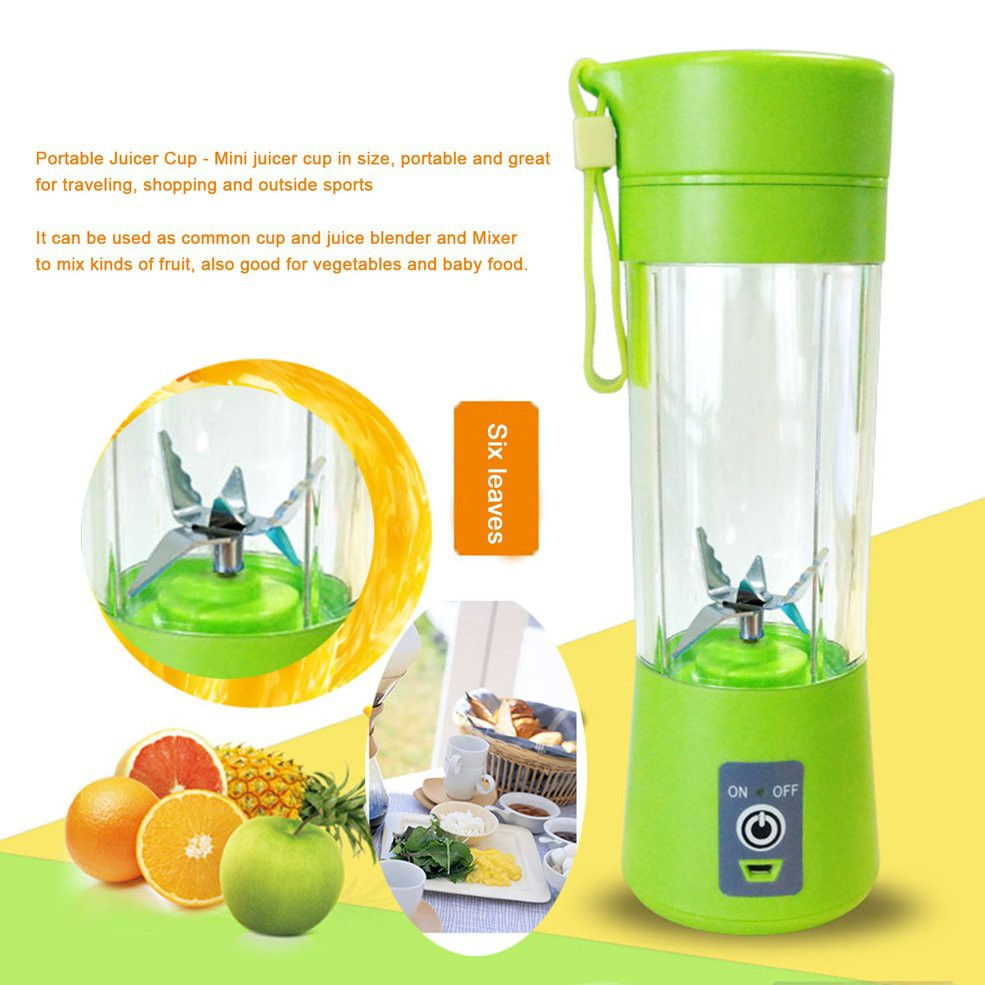 400ml Portable Juice Blender Electrical USB Juicer Cup Rechargeable Juice Maker