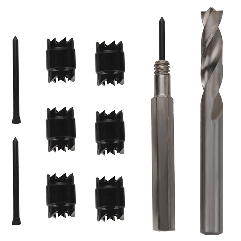 2Pcs Rotary Spot Weld Cutter Double Sided Drill Bit Remover Car Body Repair